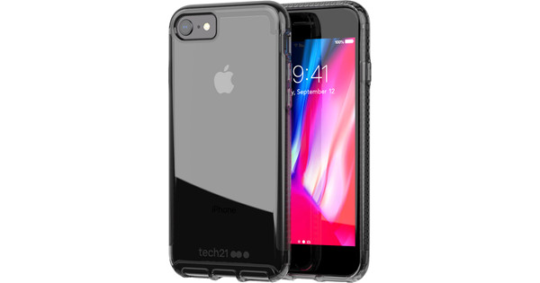 Tech21 Pure Carbon Apple iPhone SE 2/8/7 Back Cover Gray