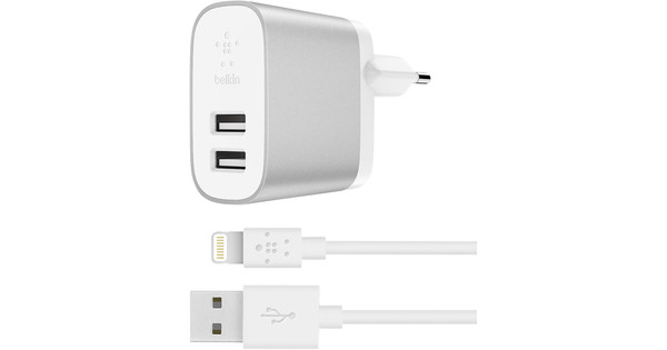 Belkin Boost Charge Dual Usb 4.8A Silver