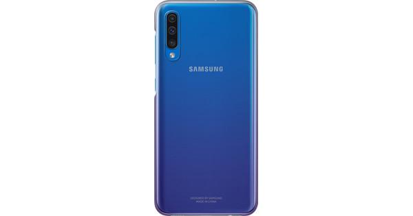 Samsung Galaxy A50 Gradation Back Cover Purple / Transparent