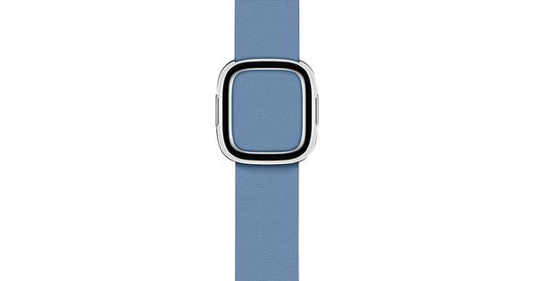 Apple Watch 38/40mm Modern Leather Watch Strap Cornflower Blue - Small