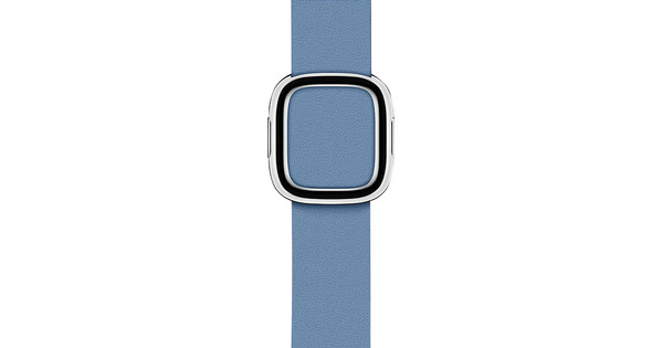 Apple Watch 38/40mm Modern Leather Watch Strap Cornflower Blue - Medium