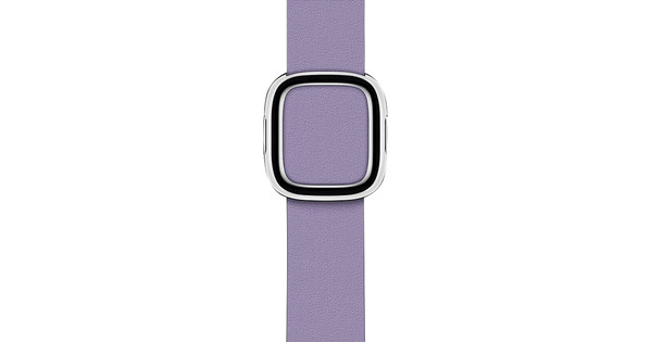 Apple Watch 38/40mm Modern Leather Watch Strap Lilac - Small