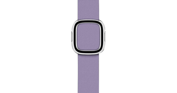 Apple Watch 38/40mm Modern Leather Watch Strap Lilac - Large