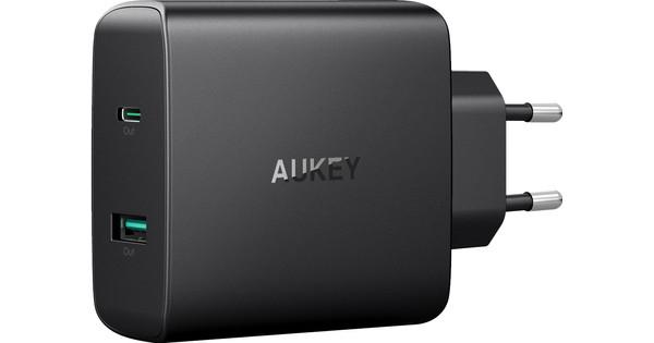 Aukey Oplader Zonder Kabel 2 Usb Poorten 46W Power Delivery 3.0