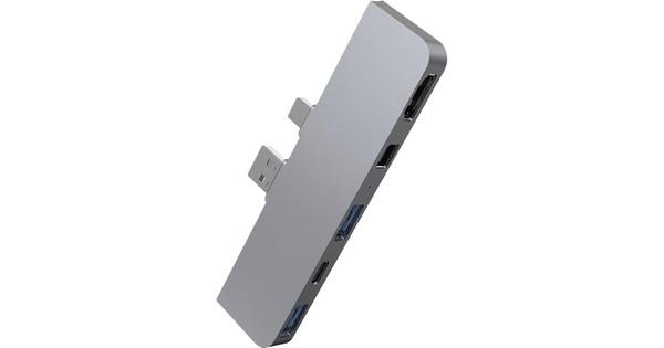 Hyper 5 in 2 Docking Station voor Microsoft Surface Pro Zilver