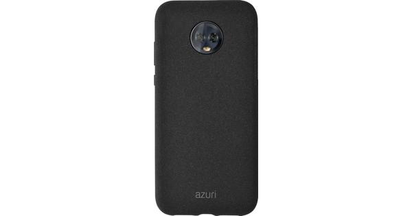 Azuri Flexible Sand Motorola Moto G7 Plus Back Cover Zwart