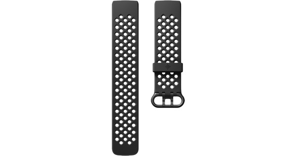 Fitbit Charge 3 Sportband Siliconen Zwart S