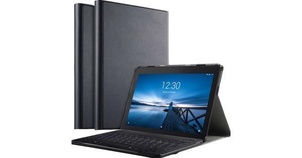 Just in Case Premium Lenovo Tab E10 Book Case Zwart QWERTY
