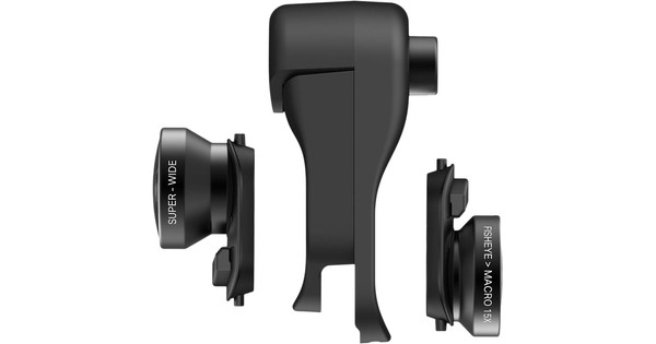 Olloclip iPhone Xs Max Clip + Fisheye, Macro and Wide Angle Lens Set