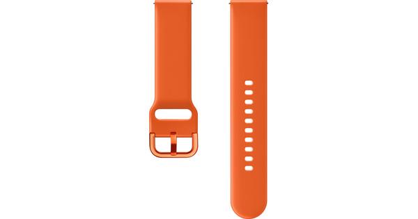 Samsung Galaxy Watch Active Bandje Kunststof Oranje