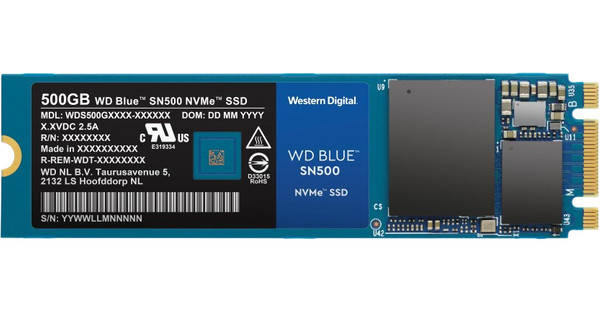 WD Blue 500GB SN500 NVMe