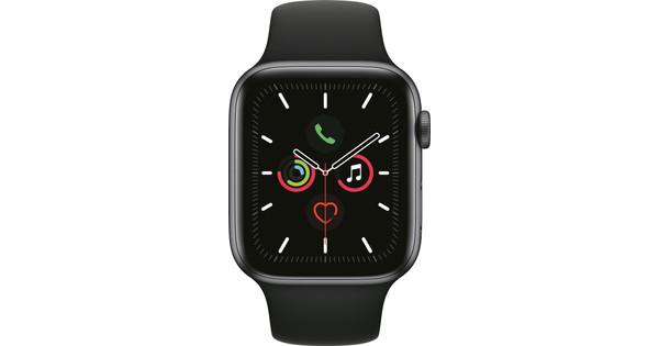 Apple Watch Series 5 44mm Space Gray Aluminum Black Sport Band