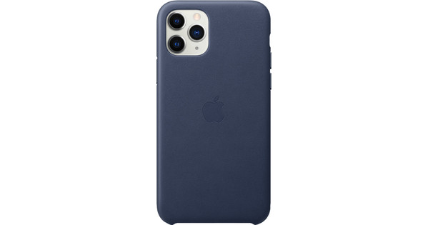 Apple iPhone 11 Pro Leather Back Cover Middernachtblauw