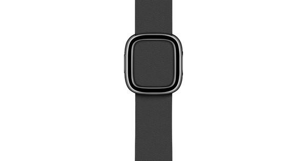 Apple Watch 38/40mm Modern Leather Watch Strap Black - Small