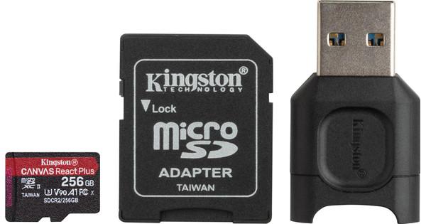 Kingston 256GB microSDXC React Plus SDCR2 with Adapter + MLPM