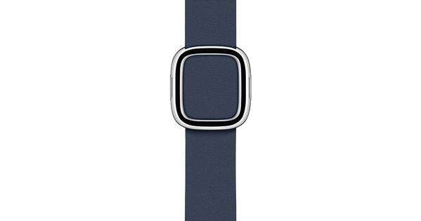 Apple Watch 38/40mm Modern Leather Watch Strap Deep Sea Blue - Medium