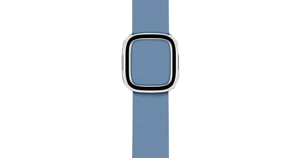 Apple Watch 38/40mm Modern Leather Watch Strap Cornflower Blue - Large