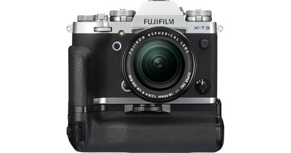 Fujifilm X-T3 Silver + XF 18-55mm + VG-XT3 Vertical Battery
