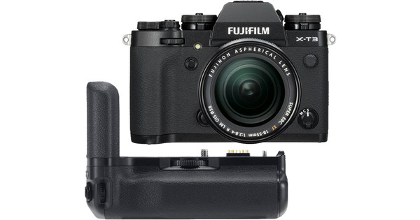 Fujifilm X-T3 Black + XF 18-55mm + VG-XT3 Vertical Battery Grip