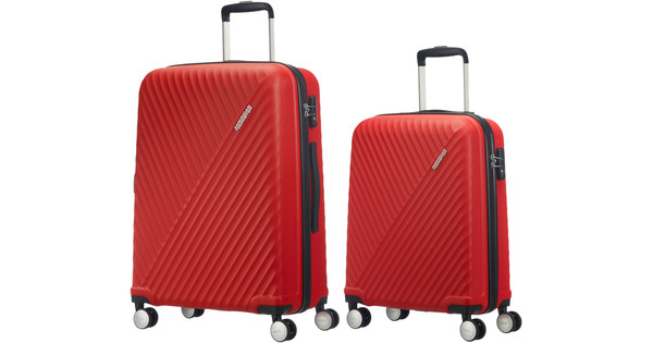 American Tourister Visby Spinner 55cm Red + 76cm Red Suticase Set