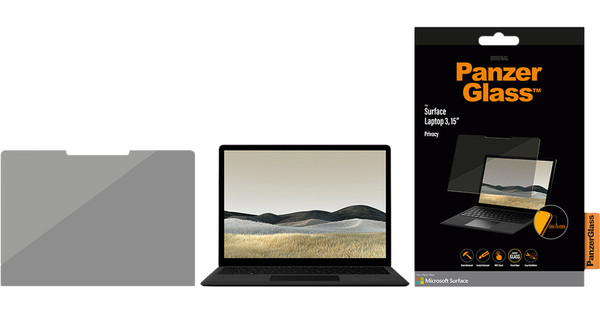 PanzerGlass Privacy Microsoft Surface Laptop 3 15 insches Screen Protector Tempered Glass