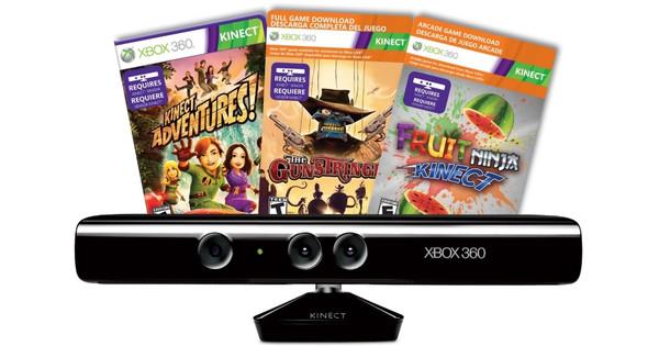 Kinect Xbox 360 + Adventures + Gunstringer + Fruit Ninja
