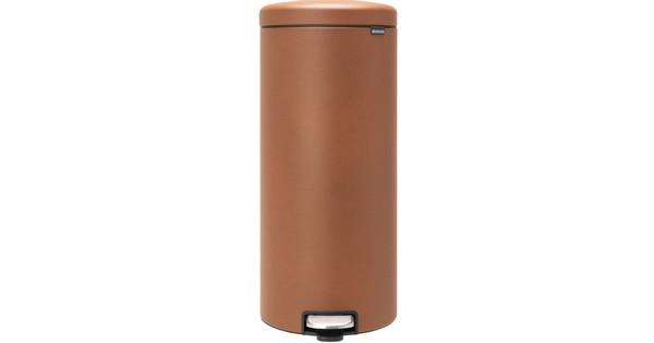 Brabantia NewIcon Pedal Trash Can 30L Brown