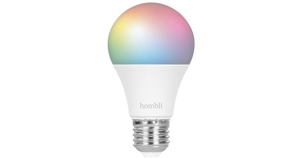 Hombli Smart Bulb E27 dimbaar wit en kleur