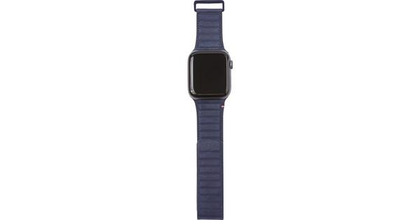 Decoded Apple Watch 42/44mm Leren Bandje Blauw