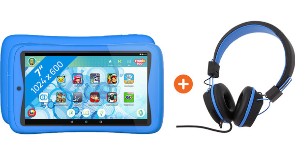 Kurio Tab Connect Studio 100 Blue + Headphones