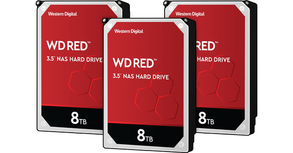 WD Red WD80EFAX 8TB 3-pack - RAID 0, 1 of 5