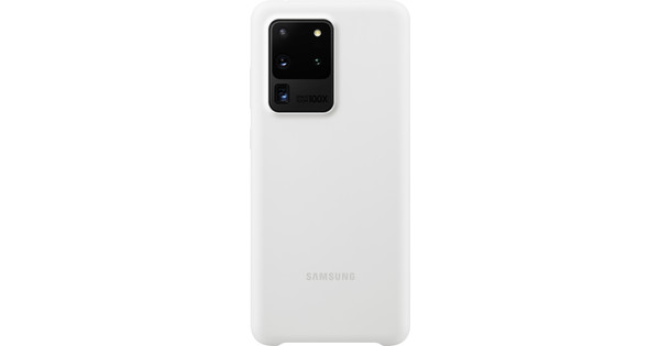Samsung Galaxy S20 Ultra Back Cover Siliconen Wit