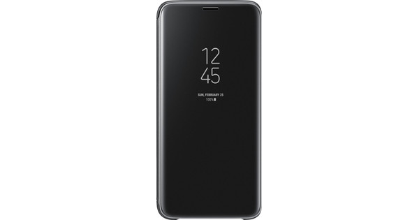 Samsung Galaxy S9 Clear Stand View Cover Zwart