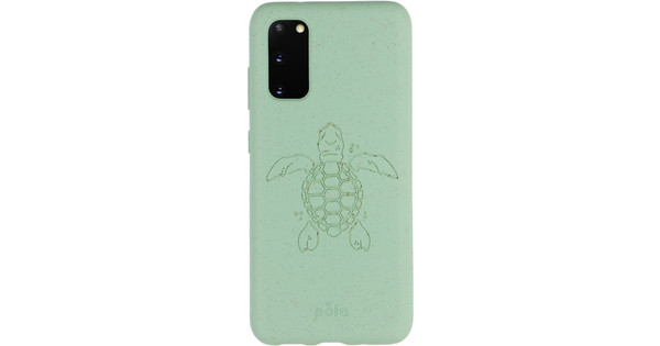 Pela Eco Friendly Samsung Galaxy S20 Back Cover Blue (Turtle Edition)