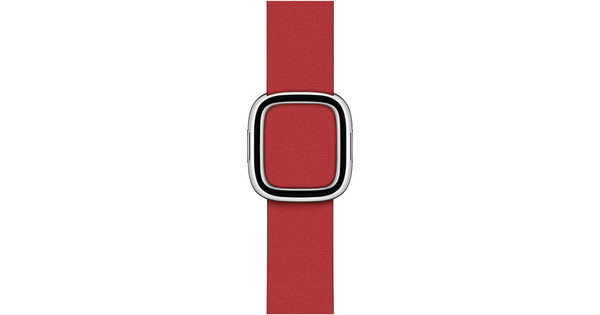 Apple Watch 38/40 mm Modern Leren Horlogeband Scharlakenrood - Small