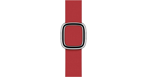 Apple Watch 38/40 mm Modern Leren Horlogeband Scharlakenrood - Medium