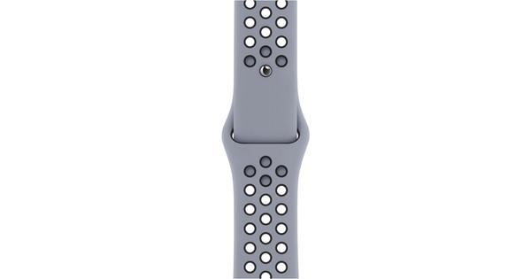 Apple Watch 38/40 mm Siliconen Horlogeband Nike Sport Obsidian Mist/zwart