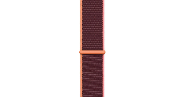 Apple Watch 42/44/45 mm Nylon Sport Loop Horlogeband Pruimenpaars