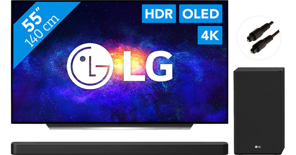 LG OLED55CX6LA (2020) + Soundbar + Optical Cable