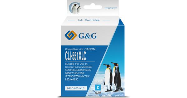 G&G CLI-551XL Cartridge Cyaan