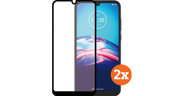 Azuri Tempered Glass Motorola Moto E6s Screenprotector Duo Pack