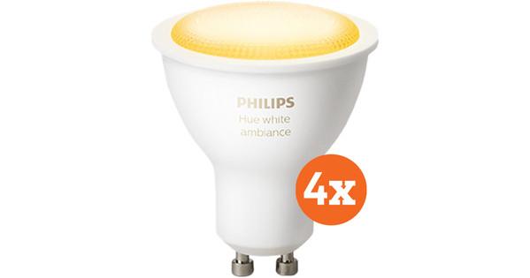 Philips Hue White Ambiance GU10 Bluetooth 4-pack