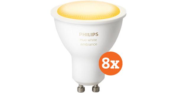 Philips Hue White Ambiance GU10 Bluetooth 8-Pack