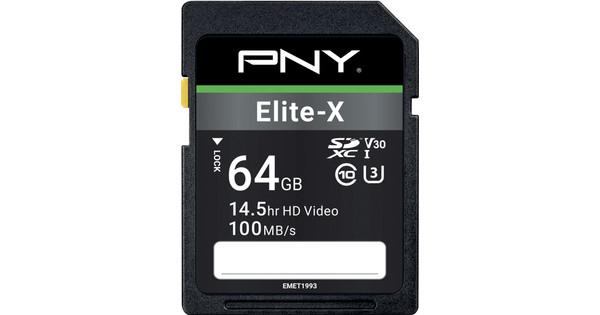 PNY Elite-X SDXC Memory Card 64GB 100MB/s