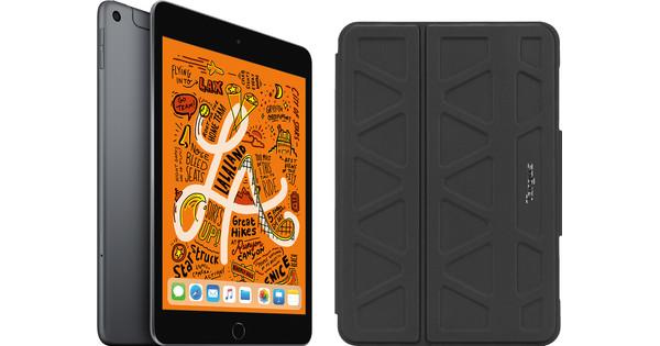 Apple iPad Mini 5 64 GB Wifi + 4G Space Gray + Targus Pro-Tek Book Case