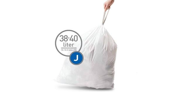 Simplehuman Afvalzakken Code J - 38-40 Liter (20 stuks)