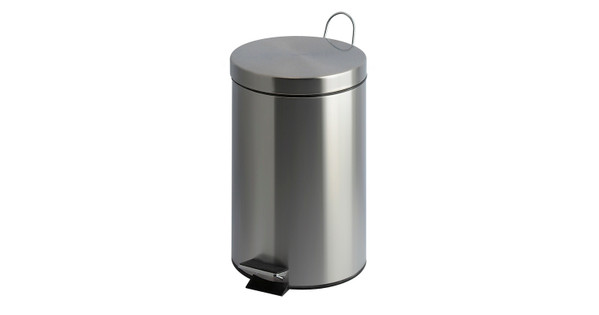 EKO Pedaalemmer 12 Liter Mat Chroom