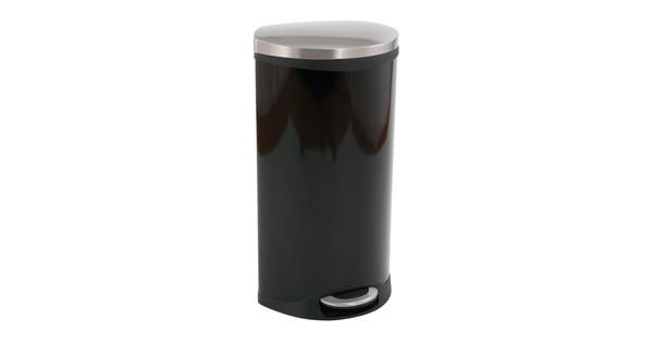 Eko Rejoice Pedaalemmer 30 30 Liter.Eko Pedaalemmer Schelp 30 Liter Zwart Coolblue Voor 23 59u