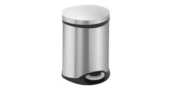 Rvs Pedaalemmer Badkamer : Eko pedaalemmer schelp liter rvs mat coolblue alles voor een