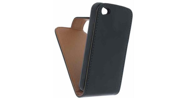 Xccess Leather Flip Case Apple iPhone 4/4S Zwart